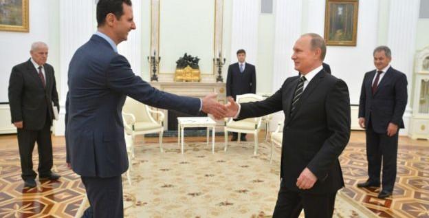 بوتين يهاتف الرئيس الأسد مهنأ بإستعادة مدينة تدمر من الأرهابيين