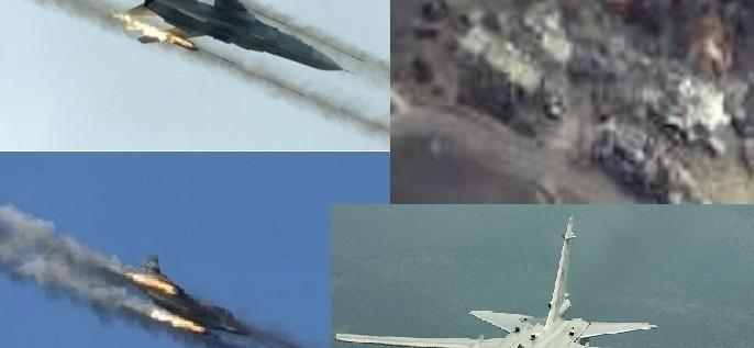 """""""سانا"""": سلاحا الجو السوري والروسي يقصفان فلول """"داعش"""" الفارة من تدمر"""