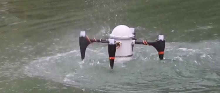 طائرة بدون طيار يمكنها الاختباء تحت الماء عدة شهور (فيديو)   اس