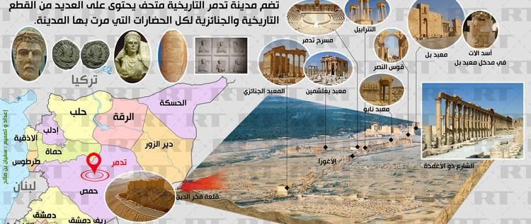 إنفوجرافيك: مدينة تدمر التاريخية