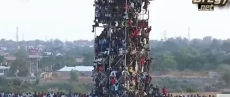 بالفيديو .. برج من البشر في أدغال إفريقيا