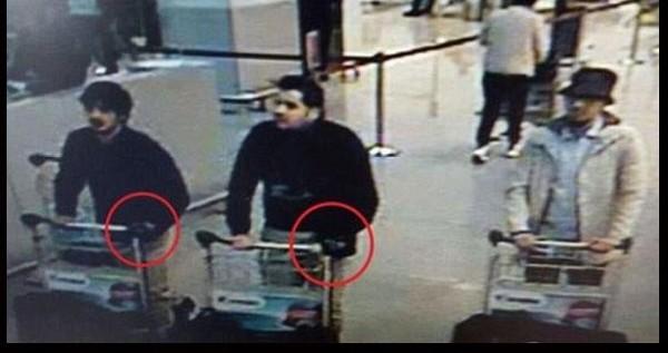المسافرون الثلاثة وصورتهم الموحية بالارهاب في بروكسل