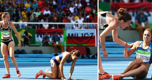الروح الرياضية :عدّاءة تتعثّر بالسباق فتساعدها منافستها وتثير الإعجاب