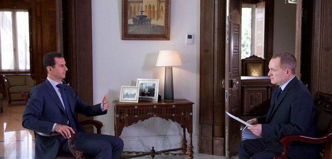 الرئيس الأسد لـ أسوشيتد برس: كل ما يقوله المسؤولون الأمريكيون عن الصراع في سورية مجرد أكاذيب.. الهجوم على موقع للجيش السوري في دير الزور كان متعمدا