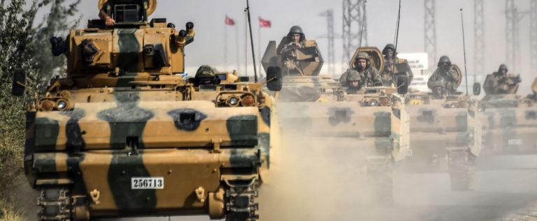 حشود عسكرية تركية كبيرة على الحدود مع سوريا