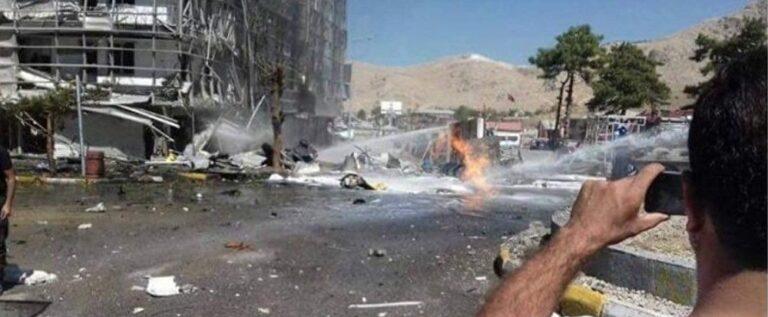 عاجل:دوي انفجار بالقرب من مبنى الإدارة المحلية بمدينة فان شرق تركيا