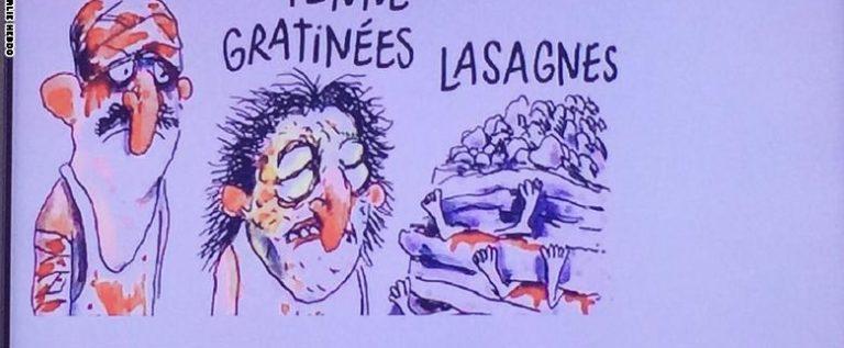 شارلي إيبدو تثير حنقًا واسعًا في إيطاليا بسبب سخريتها من ضحايا الزلزال