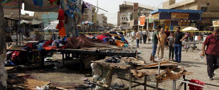 انفجار مزدوج يستهدف سوقا شعبية بمدينة الصدر شرقي بغداد