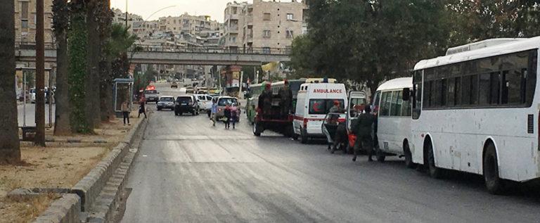 مسلحون يستخدمون غازات سامة في منطقة مطار حلب