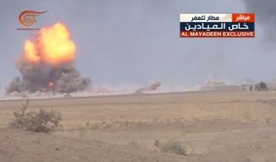 على الهواء تفجير سيارة مفخخة خلال رسالة مراسل الميادين قرب تلعفر