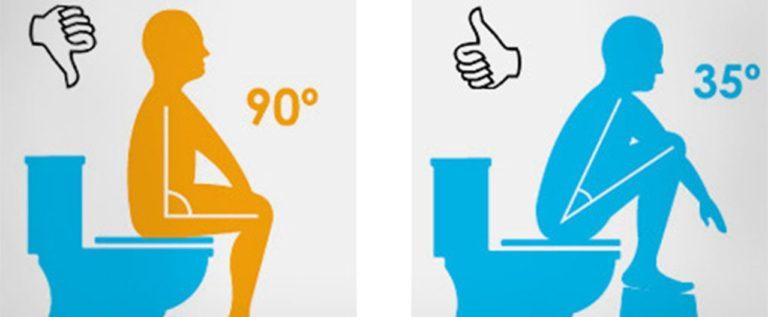 انت تستخدم المرحاض بشكل خاطئ وهذا يضر جهازك الهضمي!