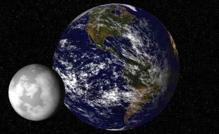 ماذا يحدث لو اصطدم القمر بالأرض؟