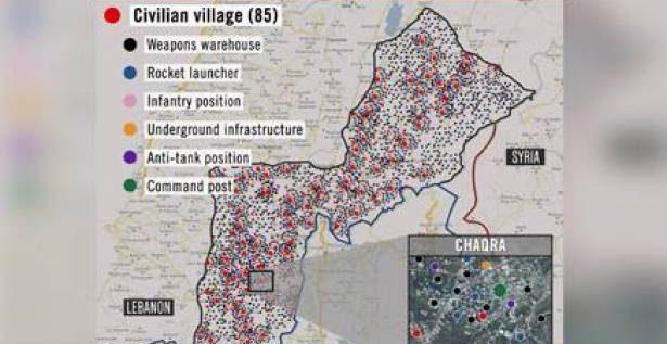 الجيش الاسرائيلي ينشر بنك أهدافه في لبنان…10 الاف موقع!