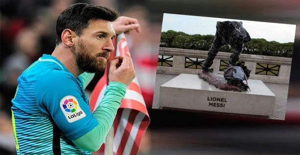 متاعب ميسي تزداد… تحطيم نصبه التذكاري في الأرجنتين