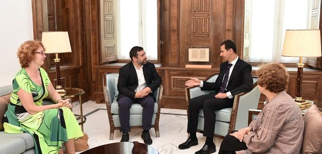 لقاء الأسد مع الوفد الأوربي…ماذا قال لهم