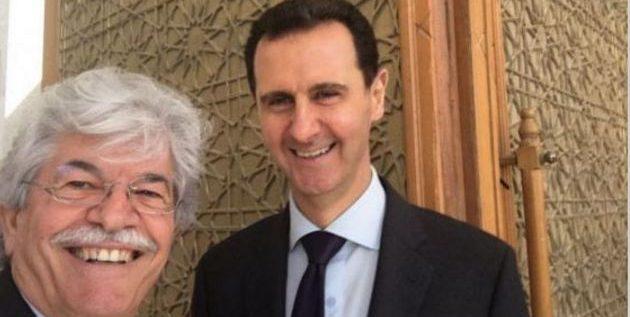 """""""سيلفي"""" مع الأسد تشعل السوشيال ميديا!"""