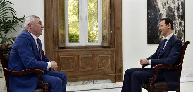 الرئيس الأسد: المبادرة الروسية بإنشاء مناطق لتخفيف التوتر كمبدأ فكرة صحيحة وسورية دعمتها منذ البداية