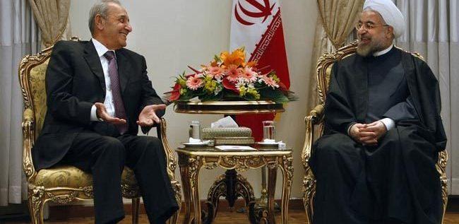 """برّي التقى روحاني: """"تهنئة على النصر"""""""