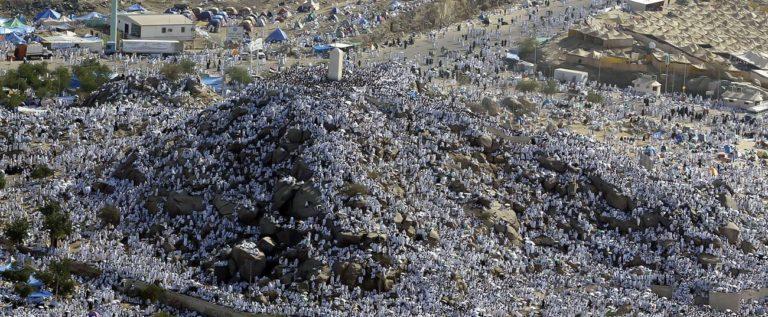حجاج بيت الله يستقرون على صعيد عرفات