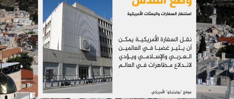 الخارجية الأميركية تحذر من تداعيات نقل السفارة للقدس