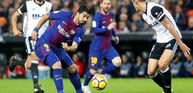 برشلونة يفوز على فالنسيا في ذهاب نصف نهائي كأس ملك إسبانيا لكرة القدم