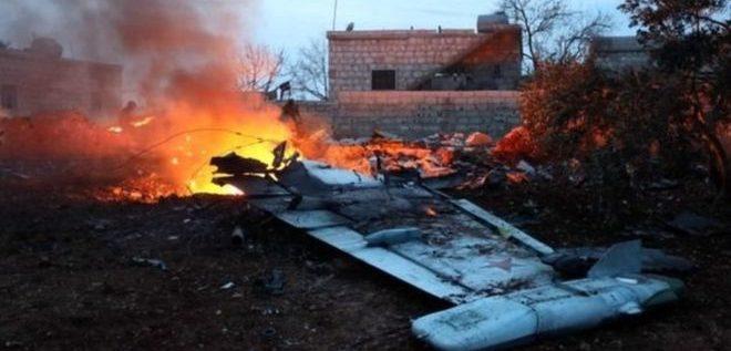 إسقاط مقاتلة روسية بمنطقة تسيطر عليها المعارضة السورية في إدلب
