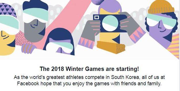 """""""فيس بوك"""" يحتفل بانطلاق دورة الألعاب الأولمبية الشتوية لعام 2018"""