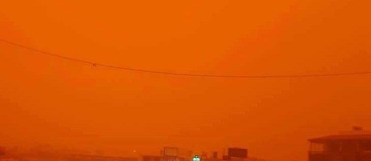 يمكنكم تأجيل غسيل السيارات وتنظيف المنازل الى يوم السبت … الغبار والرمال نحو لبنان