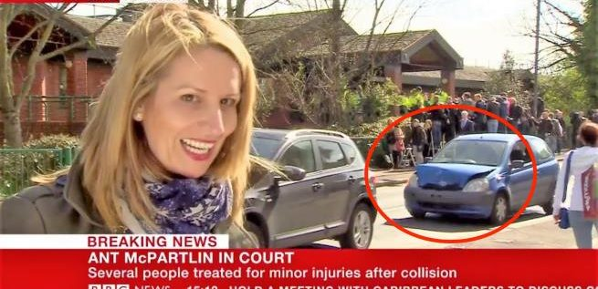 """حادث سير على الهواء خلف مراسلة """"بي بي سي"""""""