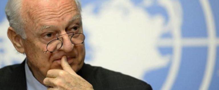 دي ميستورا: نشوب معركة شاملة في الجنوب السوري قد يزيد التوتر مع إسرائيل