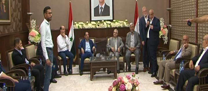 وزير الصناعة اللبناني حسين الحاج حسن في دمشق مجدداً