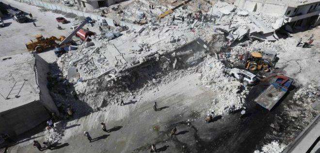 39 قتيلا في انفجار مستودع بإدلب السورية