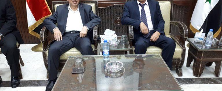 الحاج حسن يلتقي وزير الاقتصاد السوري في دمشق: من مصلحة اللبناني فتح معبر نصيب