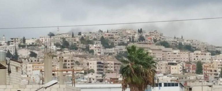 انفجار قذيفة ورشقات نارية والقاء قنابل في مخيم المية ومية