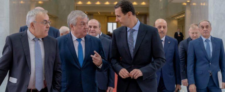 الرئيس الاسد يستقبل مبعوث الرئيس الروسي