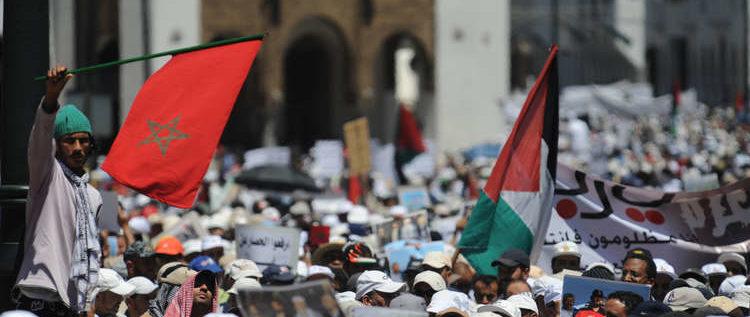 مغاربة يحتجون على زيارة محتملة لنتنياهو إلى بلادهم