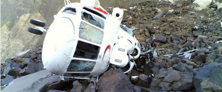 سقوط 5 ضحايا اثر سقوط مروحیة إنقاذ إیرانية جنوب غرب البلاد