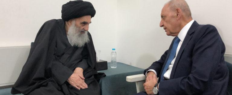 السيد السيستاني يستقبل الرئيس بري وتأكيد على تطوير العلاقات