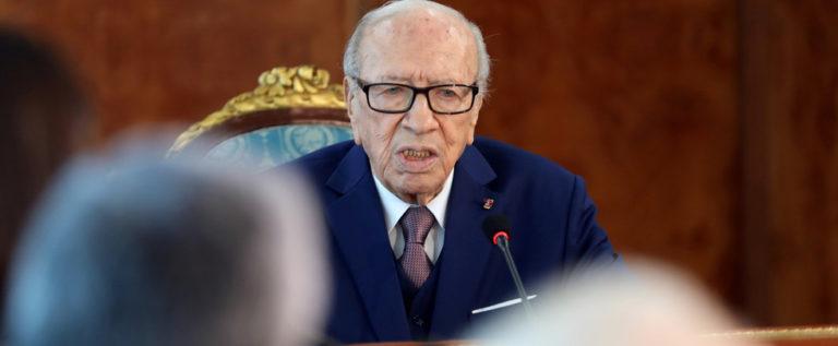 من سيخلف الرئيس التونسي السبسي في حالة شغور منصبه ؟