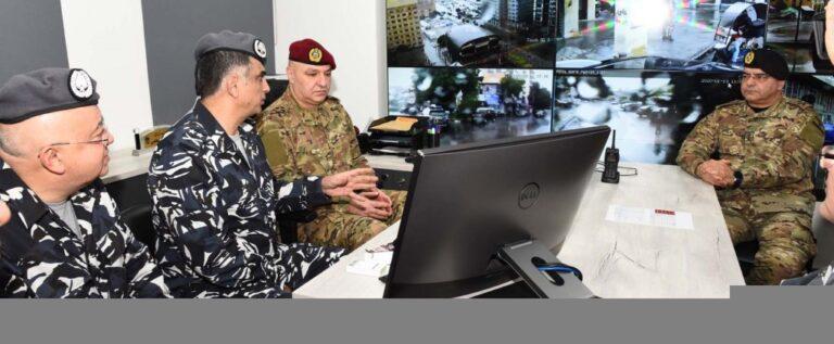قوى الأمن: قائد الجيش زار ثكنة الحلو والتقى عثمان والأيوبي