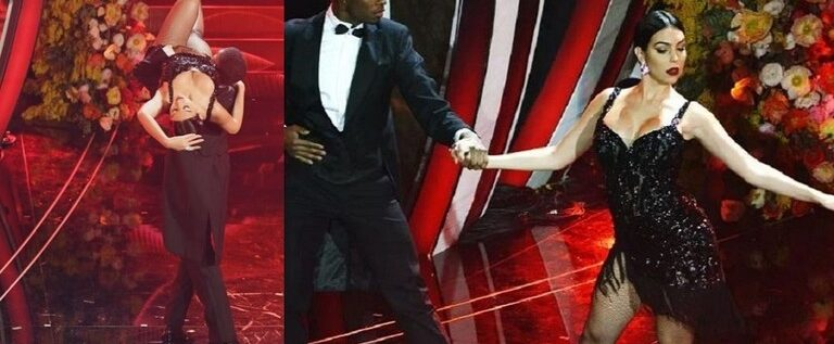 """تحت أنظار رونالدو.. جورجينا تلهب الجمهور برقصة """"التانغو"""" (فيديو)"""