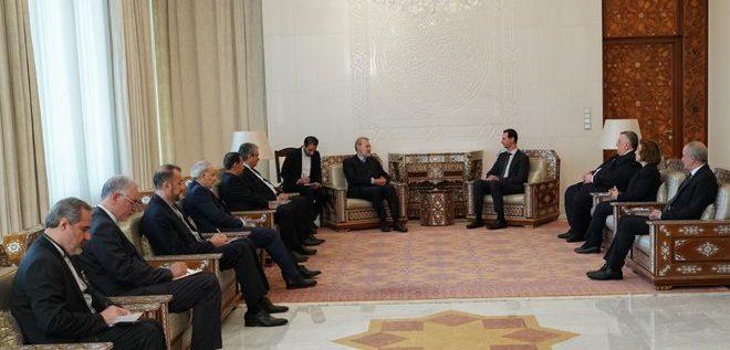 الرئيس الاسد استقبل لاريجاني: الشعب السوري مصمم على تحرير كامل أراضيه من الارهاب