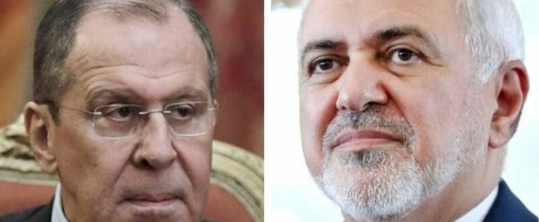 ظريف يبحث مع لافروف التطورات في مدينة ادلب السورية