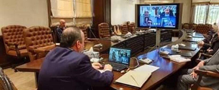 """سوريا.. أول """"اجتماع إلكتروني"""" رسمي بسبب كورونا"""