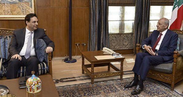 """الرئيس بري التقى دياب وميقاتي.. والاخير يؤكد المشاركة في """"لقاء بعبدا"""""""