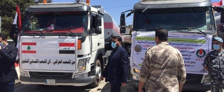 وصول 22 صهريجا عراقيا محملا بالغاز أويل الى نقطة المصنع