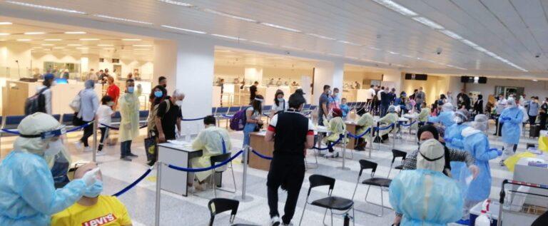 ثماني حالات إيجابية على متن رحلات إضافية وصلت إلى بيروت في اليومين الماضيين