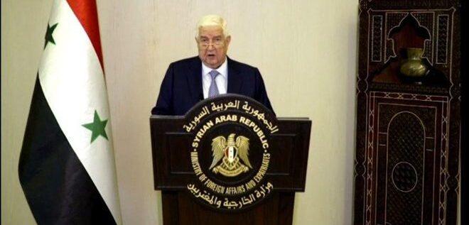 """المعلم: """"قانون قيصر"""" يهدف إلى خنق الشعب السوري.. ولن ندخر جهداً لإنهاء الاحتلال الأمريكي والتركي"""