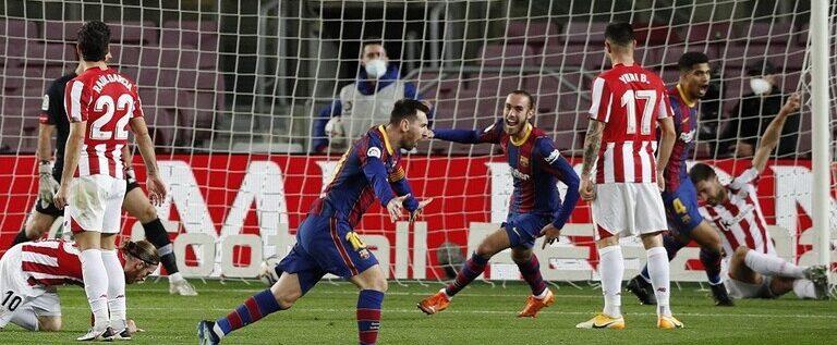 برشلونة يثأر من أتلتيك بيلباو ويخطف الوصافة من ريال مدريد