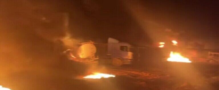 سوريا.. إصابات باستهداف صواريخ مجهولة المصدر حراقات بدائية لتكرير النفط في ريف حلب